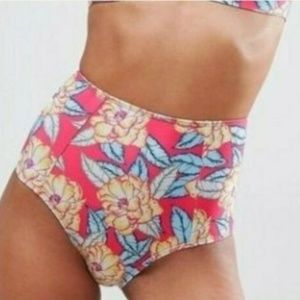 ASOS Swim Womens High Waist Bikini Brief Bottom